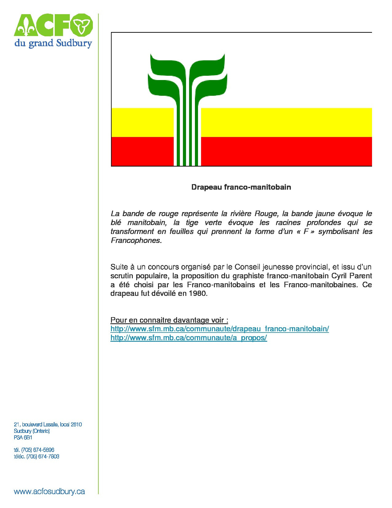 thumbnail of 13 mars – drapeau franco-manitobain