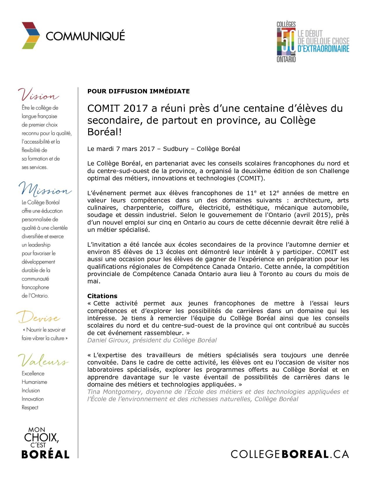 thumbnail of Communiqué_COMIT_2017