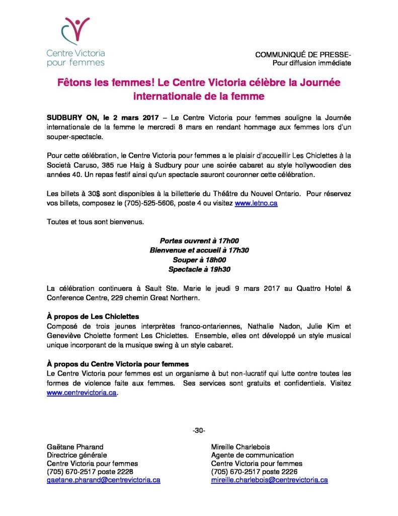 thumbnail of Le Centre Victoria pour femmes célèbre la Journée internationale de la femme_Communiqué-Press Release