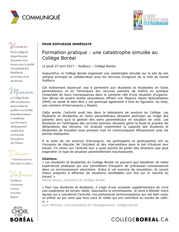 thumbnail of Communiqué_catastrophe_simulée_2017