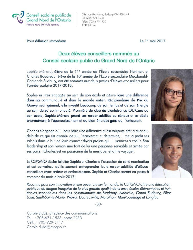 thumbnail of Élections – Élèves-conseillers2017
