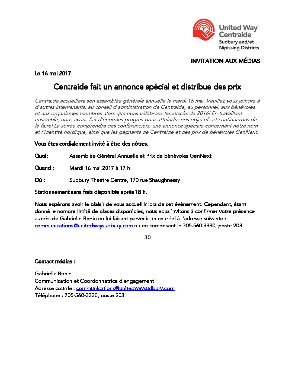 thumbnail of Media Invitation – AGM & Awards 2016 FR