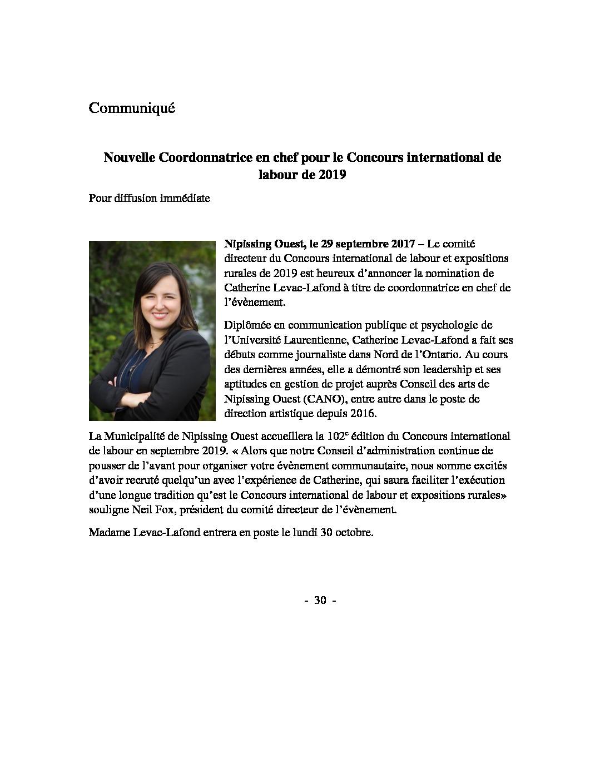 thumbnail of Nouvelle coordonnatrice en chef CIL2019