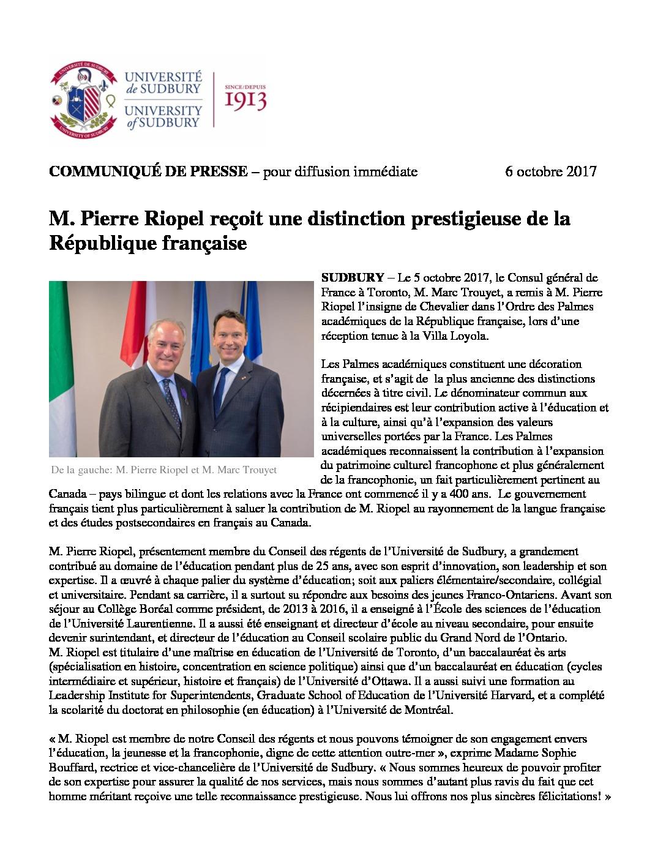 thumbnail of 2017-10-05-COMMUNIQUE-Pierre-Riopel-Palmes-academiques_FR FINAL