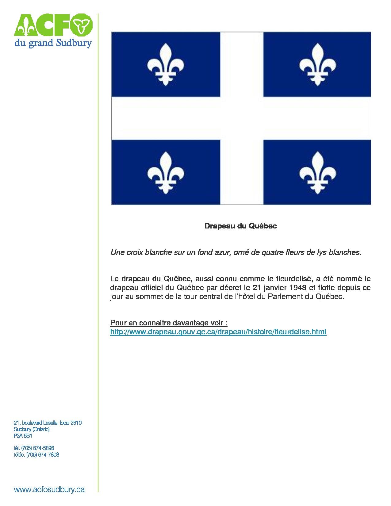 thumbnail of 9 mars – drapeau du Québec