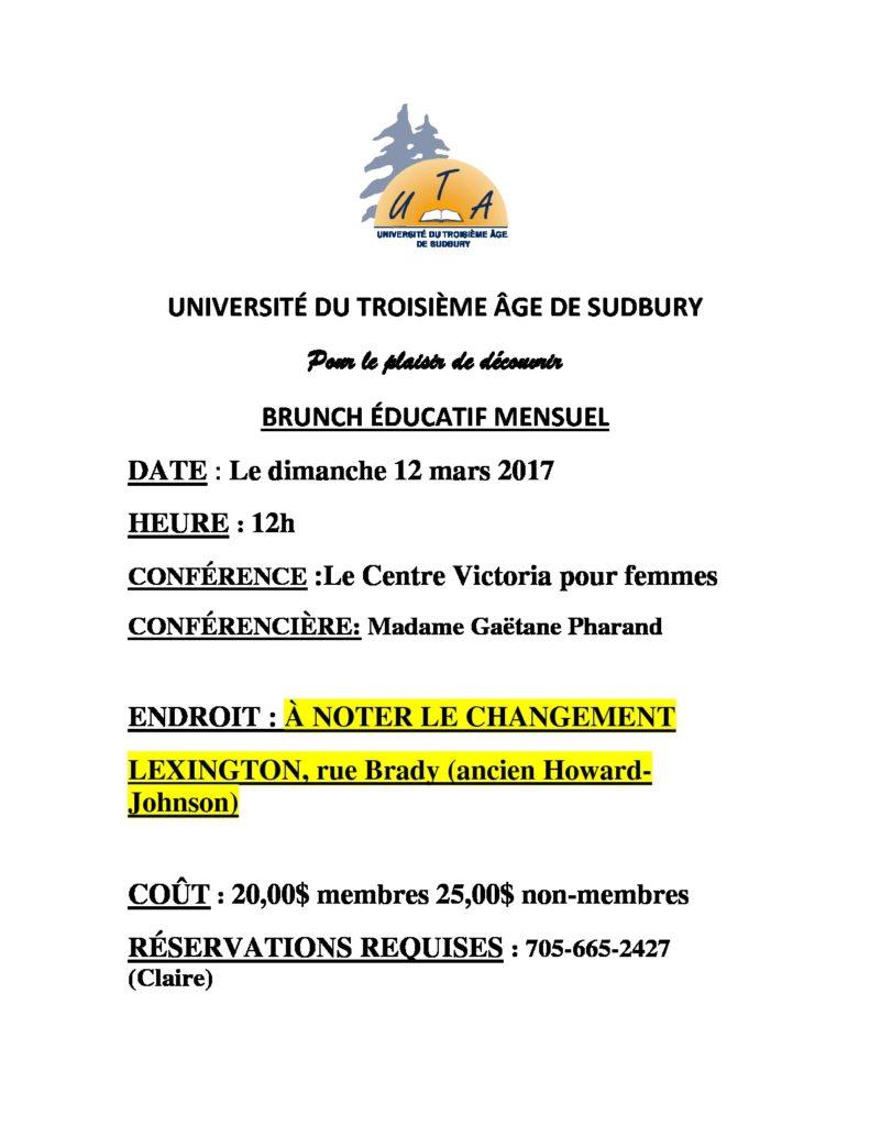 thumbnail of UNIVERSITÉ DU TROISIÈME ÂGE DE SUDBURY