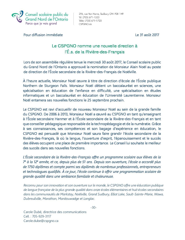 thumbnail of Nouvelle direction RDF-2017