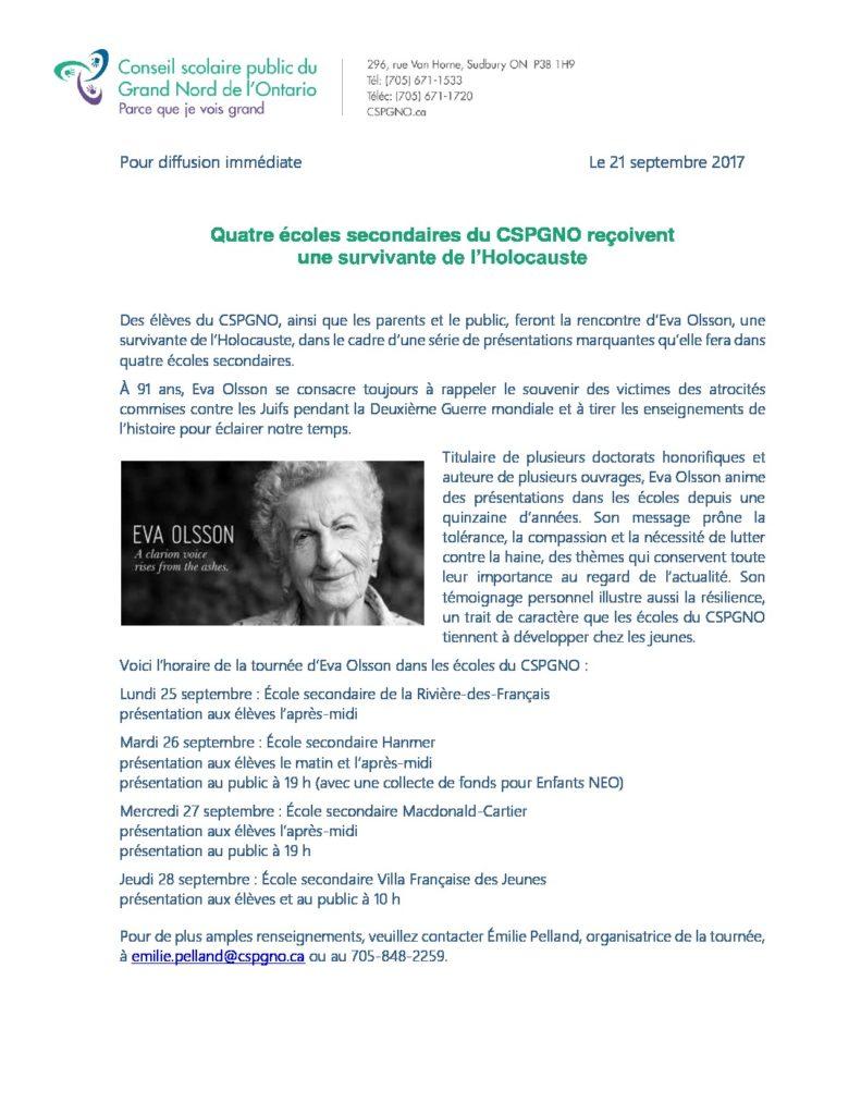 thumbnail of communiqué présentations Eva Olsson docx
