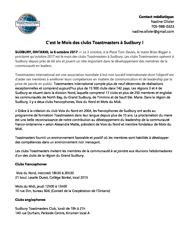 thumbnail of 2017-10-06 – C'est le Mois des clubs Toastmasters à Sudbury !